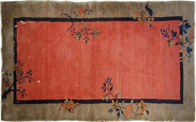 """Antique Peking Carpet, 3' x 5'9"""""""