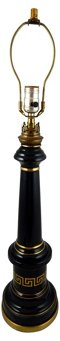 Black & Gold Ceramic Lamp