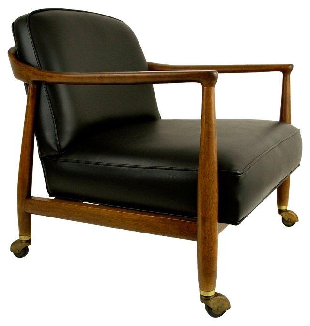 Mid-Century Modern Walnut Lounge Chair