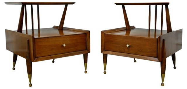 Midcentury Kent-Coffey Tables, Pair