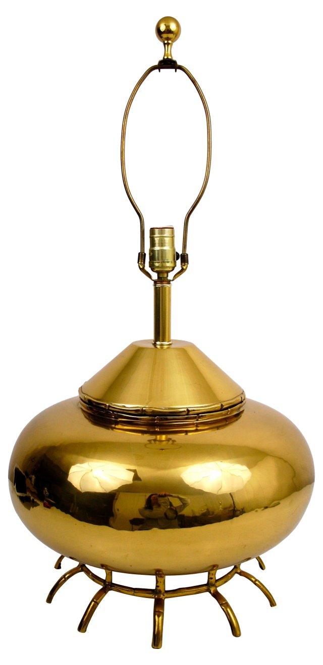 Brass Bamboo-Style Lamp