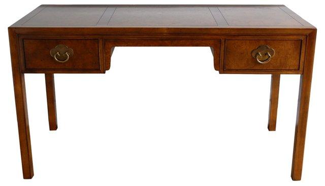 Burlwood  Desk by Baker