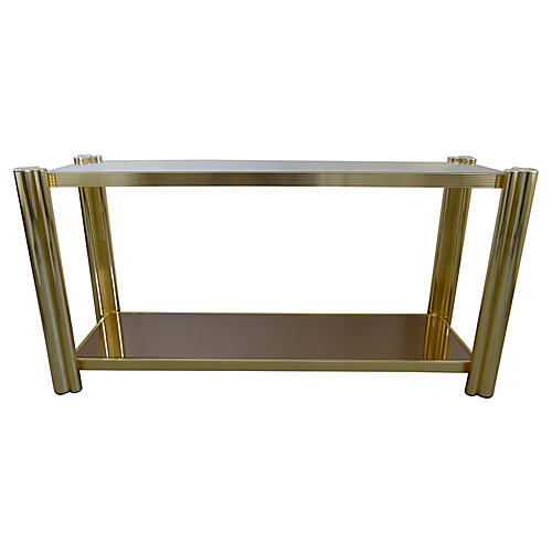 1970s Brass Console