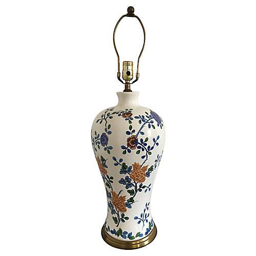 Midcentury Tyndale Floral Lamp