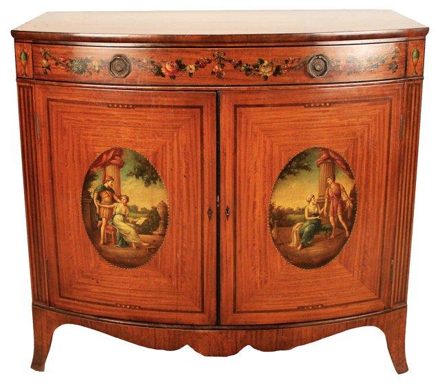 Edwardian Painted Cabinet, C. 1920
