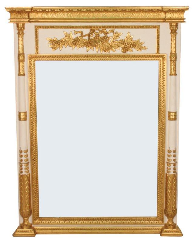 Cream & Gold Trumeau Mirror