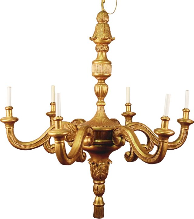 Regency-Style Giltwood Chandelier