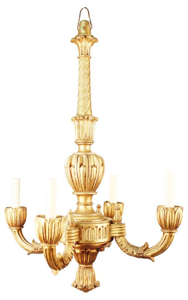4-Arm Regency Chandelier