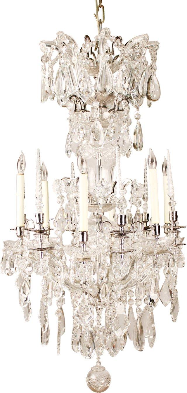 Hand-Cut Crystal Chandelier