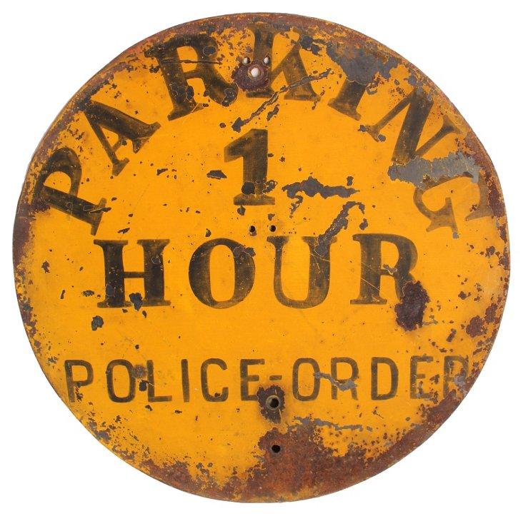 Police Order Sign