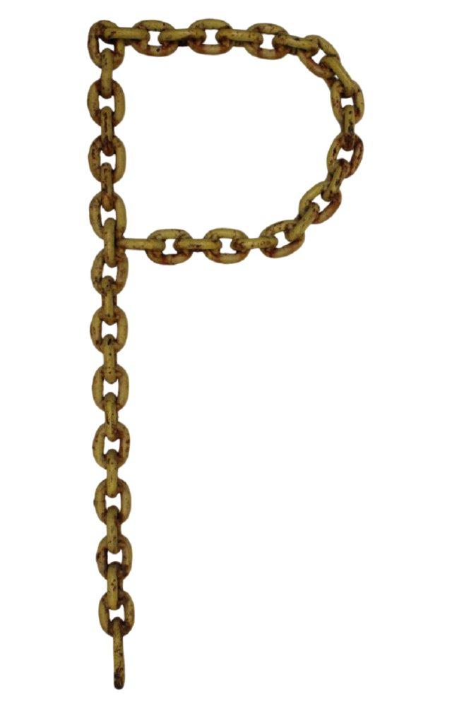 Folk Art Chain Letter P