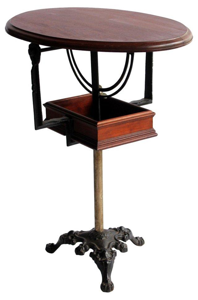 Antique Tilt-Top Accent Table