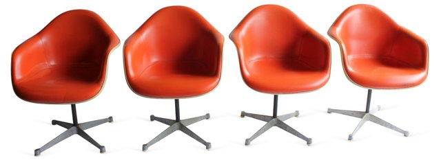 Herman Miller Eames Shell Chairs, S/4