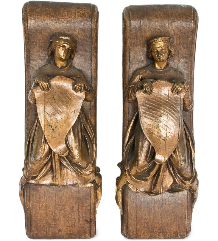 English Wall Plaques, Pair