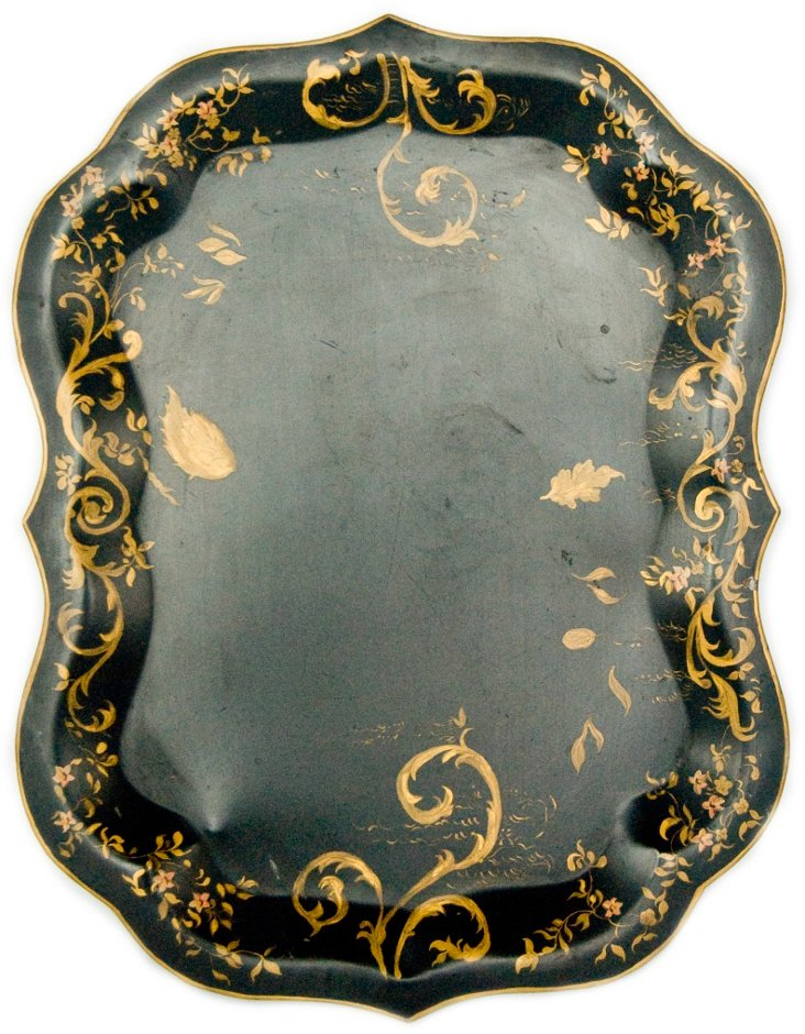 Antique Hand-Painted Tray