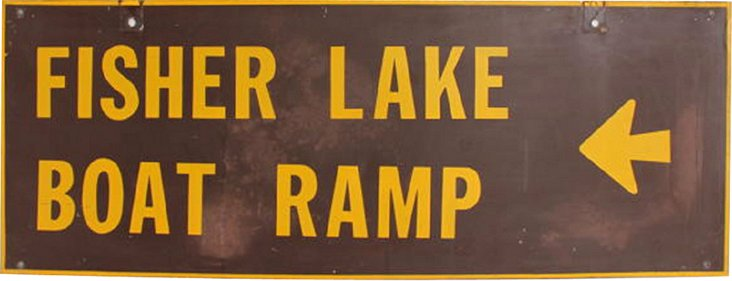 Fisher Lake Sign