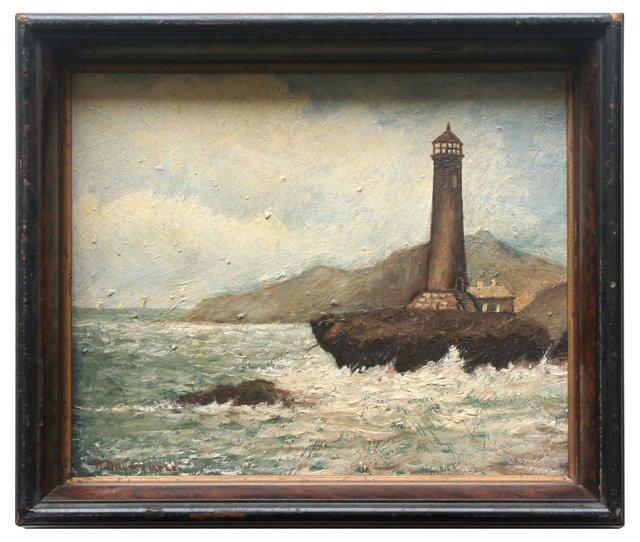 Lighthouse w/ Crashing Waves