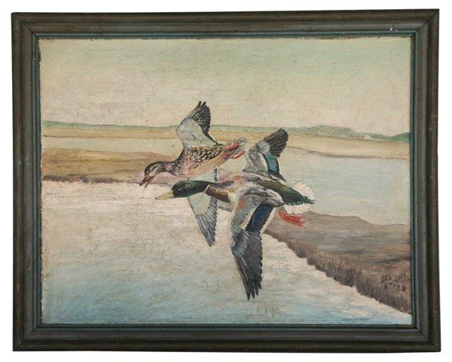Ducks in Flight, 1938 ANNA