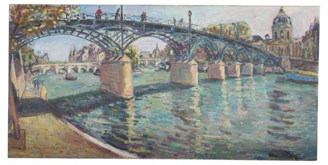 La Seine Au Pont des Arts by H. Curcuru