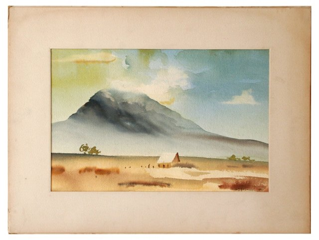 Watercolor by W.D. Bramhall, 1970