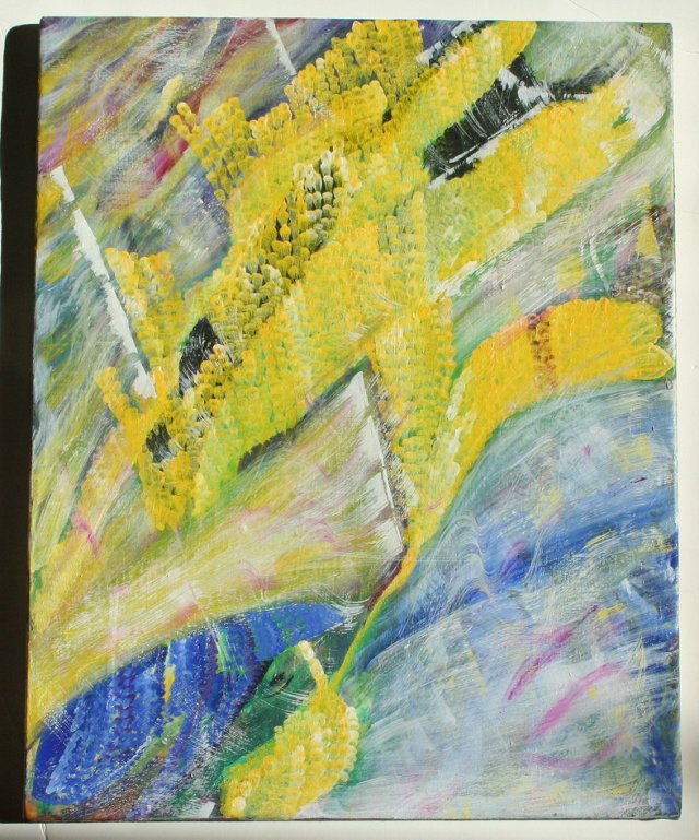 Abstract Yellow Feathers