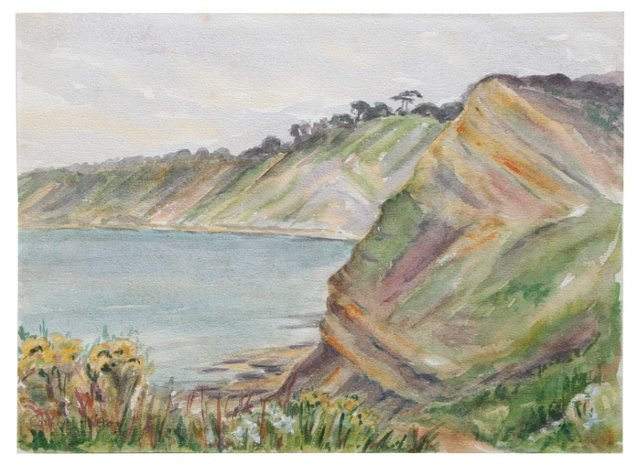 Cliffs at Durlston Bay (Two-sided)