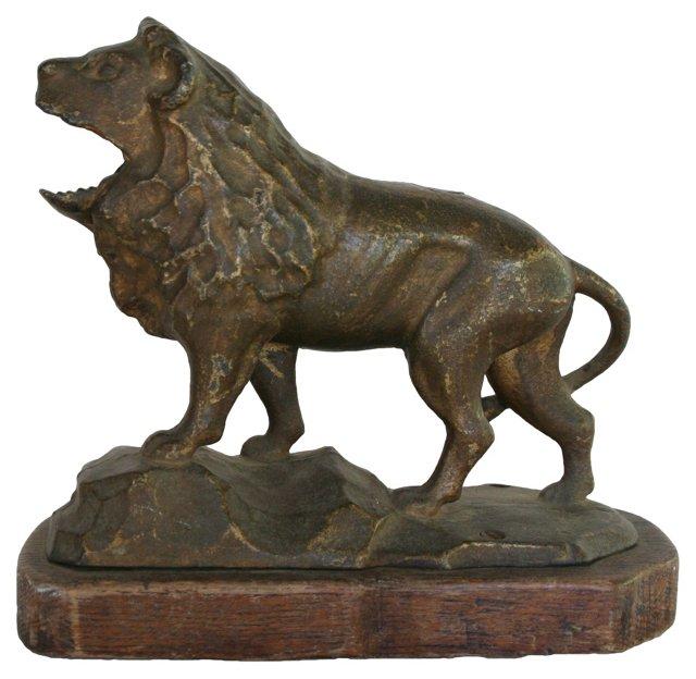 Brass Lion Nutcracker