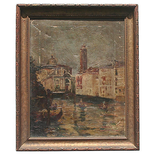 Canal Scene by Eugenio Gignous