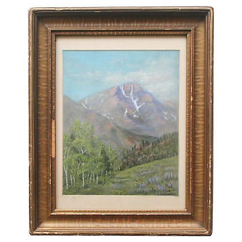 Pastel of Mountains by A. Gertsler
