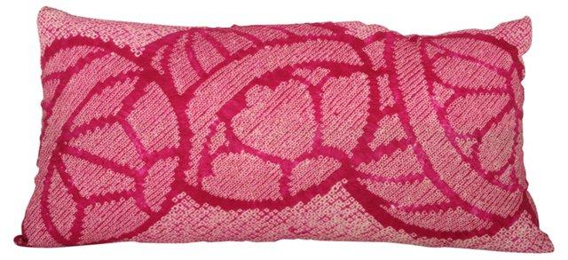 Fuchsia Silk Obi Pillow