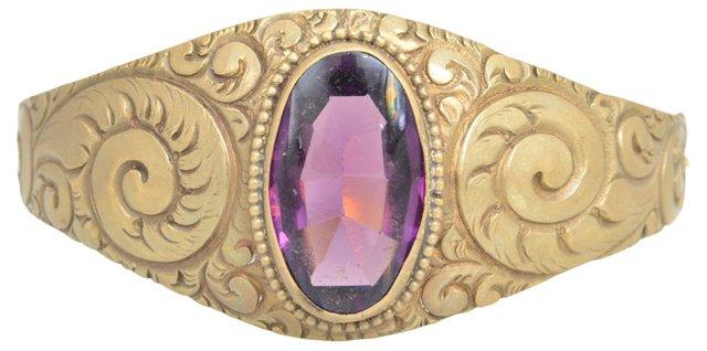 Victorian Scroll Bangle Bracelet