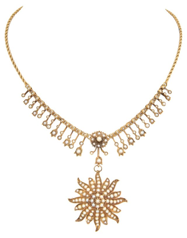 Pearl Starburst Necklace