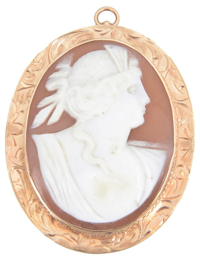 Victorian Shell & Gold Cameo