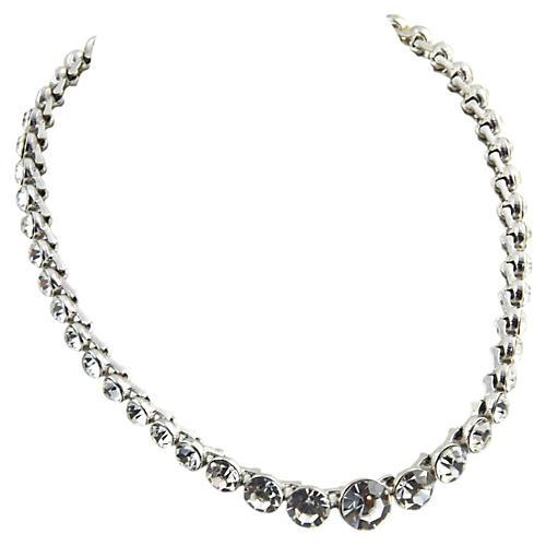 Monet Swarovski Crystal Riviera Necklace