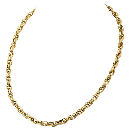 Long Victorian Gold Chain Necklace
