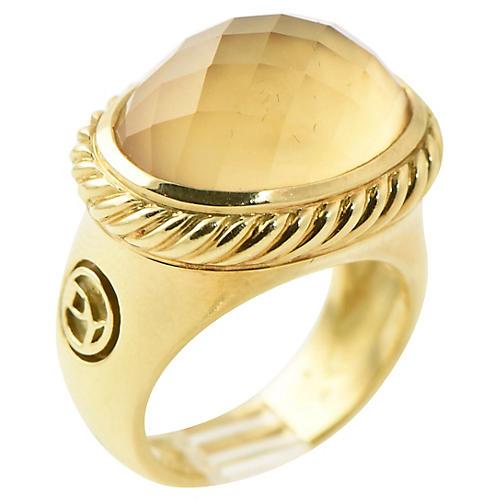 Yurman Gold & Citrine Signature Ring