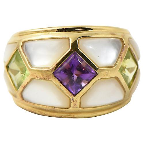 Kai Yin Lo Vermeil Gemstone Ring