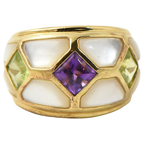Kai Yin Lo Vermeil Gemstone Ring