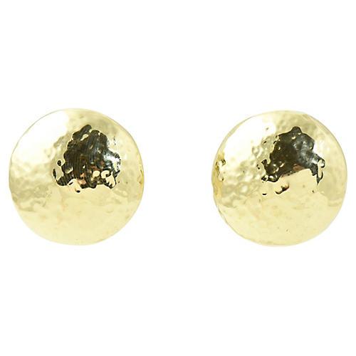 Ippolita Hammered Gold Disc Earrings