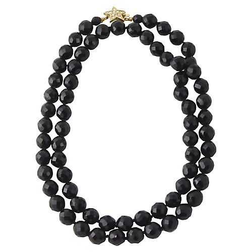 Carolee Star & Black Crystal Necklace