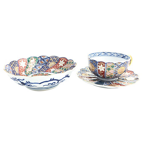 Chinese Cup, Saucer & Bowl