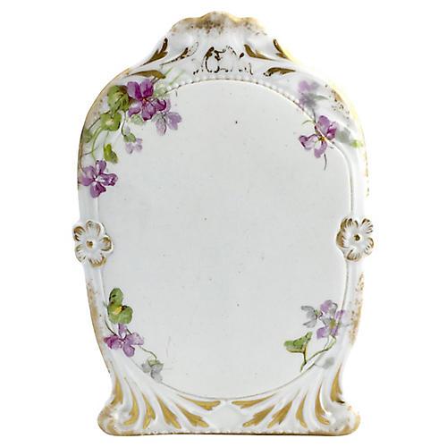Antique Limoges Purple Floral Gilt Menu