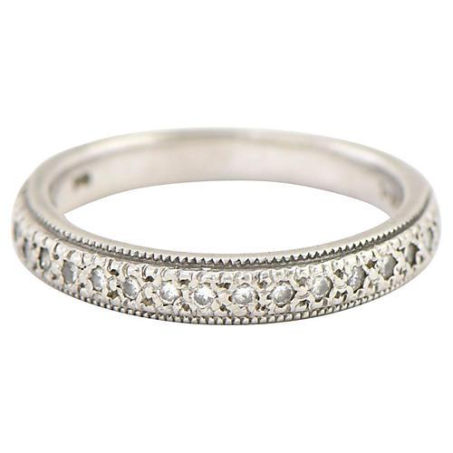 Diamond & Platinum Wedding Band
