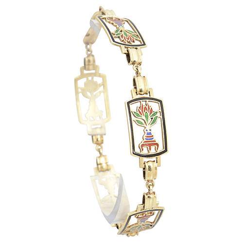 1970s Egyptian Revival Bracelet