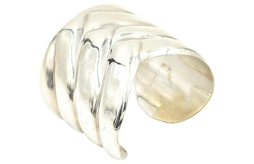 Modernist Sterling Cuff Bracelet