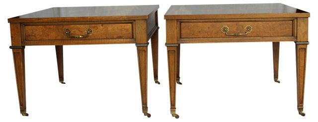 Century Side Tables,  Pair