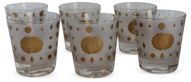 Fred Press Lowball Cocktail Glasses, S/6