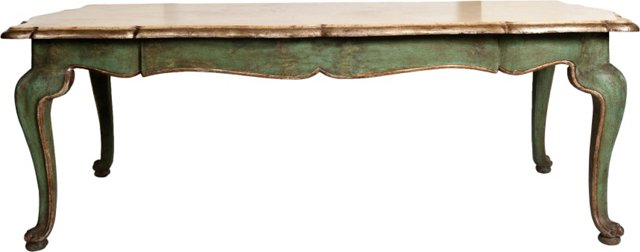 Italian Hand-Painted Dining Table