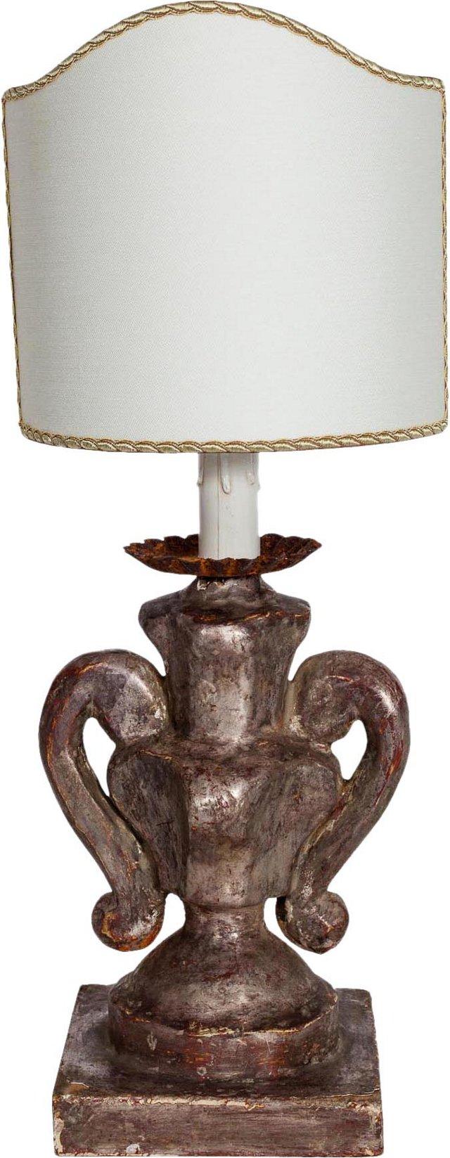 Petite Italian Silver Lamp