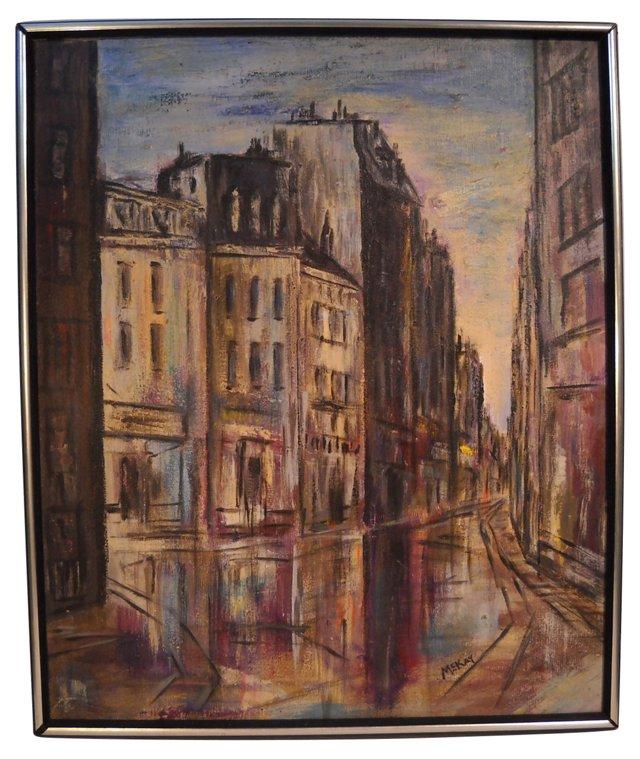 Midcentury Paris Street Scene